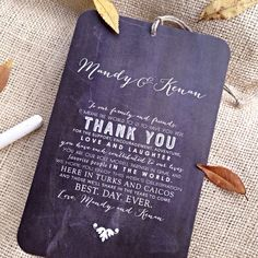 What about these for the welcome bags?  Chalkboard Style Wedding Welcome / Itinerary by JonesStreetPress, $1.80