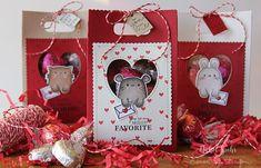 Nichol Spohr LLC: Valentine's Favor Bags featuring Mama Elephant Favor Bags + Page Huggers (video)
