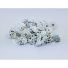Lot de 10 Perles Plates forme lentilles marbé en silicone