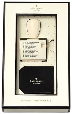 kate spade new york Rotating Stamp with Pad, Assorted   Free Shipping