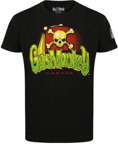 c3a137cdcf5b4 Skull  amp  Logo Gas Monkey Garage T-Shirt Gas Monkey Garage  Skull and