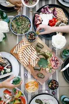 A Mediterranean Mezzo dinner party with @SanPellegrino