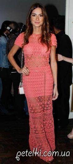 Длинное красивое платье крючком фото #1