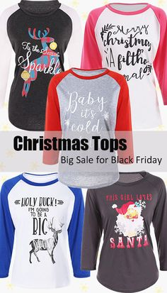 Christmas Tops-Big Sale for Black Friday