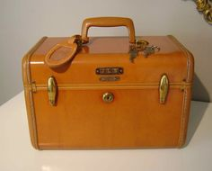 Train Case. love the character suitcases use to have