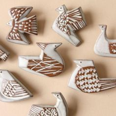 BIRDS' WORDS/bird tile brooch/B dieci|online shop