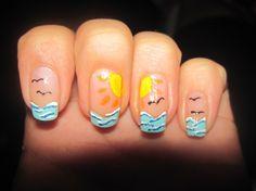 shellac uv nail gel wholesale OEM ODM chinese manufactory supplier cheap L bluesky cco ido cnd Beach Nail Designs, Nail Tip Designs, Creative Nail Designs, Pretty Nail Designs, Creative Nails, Sea Nails, Seasonal Nails, Fabulous Nails, Amazing Nails