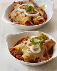 Craving Mexican Food! This recipe from Rick Bayless looks delish! Enchiladas Suizas (Creamy Enchiladas with Chicken, Tomatoes and Green Chile) #mexicanfood