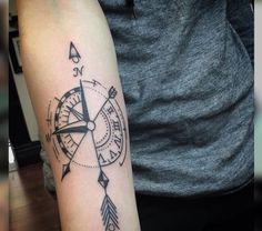 Compass/Arrow tattoo