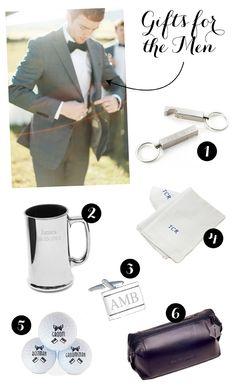 Grey suit, white shirt, black bow tie for groom. Groomsmen can wear black ties.