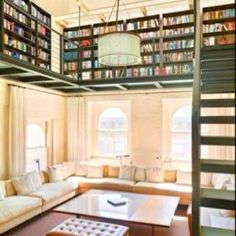 Can I just live here? #library #home #bliss