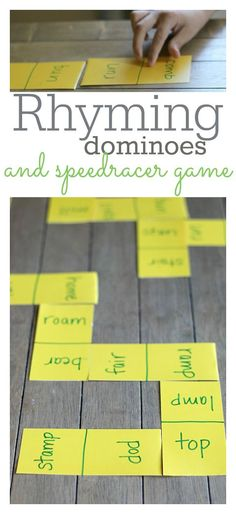 Make your own rhyming dominoes and work on that super important literacy skill at home.