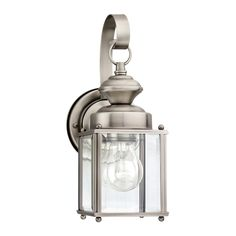 Shop Sea Gull Lighting Jamestowne 11.25-in H Antique Brushed Nickel Outdoor Wall Light at Lowes.com