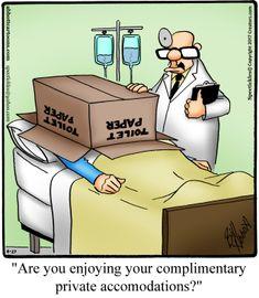 """Spectickles"" Cartoon A Day - Luxurious Privacy - Bill Abbott Cartoons Cartoon Jokes, Funny Cartoons, Funny Memes, Hilarious, Getting Older Humor, Doctor Who, Herman Comic, Medical Jokes, Hospital Humor"