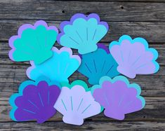 Seashell Die Cuts - Mermaid Party, Under The Sea Party, Beach Party, Baby Shower, First Birthday