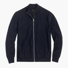 Italian merino wool full-zip sweater