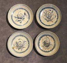 4  Vietnamese Blue& White Porcelain plates Pre-1900