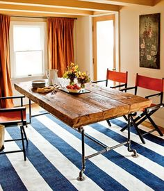 Come! Gather round a table built from reclaimed wood and pipes. (We promise we won't tell if you didn't build it yourself.) | Gillian Barth, Assistant editor and assistant to the editor | Photo: Kristine Larsen | thisoldhouse.com