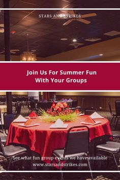 •Join Us For Summer Fun with Your Groups - Stars and Strikes' Metro Atlanta bowling alley locations offer summer fun for groups of all kinds. See what fun group events we have available