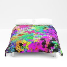 Glorious Garden Comforters by Pamela Gatens - Queen: x Whimsical Owl, Psychedelic Pattern, Graffiti Styles, Retro Pattern, Cushions, Pillows, Pink Butterfly, Awesome Bedrooms, Soft Duvet Covers