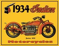Not a Harley but I love it anyway!!  1934 Indian Motorcycle