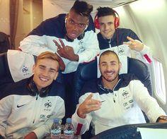 Direction l'Arménie pour Karim Benzema, Antoine Griezmann, Paul Pogba et Rémy Cabella.