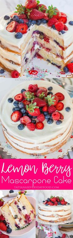 This light and delicate mascarpone cake is what you need to make for your next special occasion! It's elegant and simple, yet full of incredible flavors! The mascarpone cake layers are made with lemon zest, berries and mascarpone; then the cake is frosted with a fluffy, lemony mascarpone cream frosting and garnished with more berries. […]