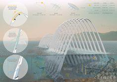 Segundo premio. Cetacea. Propuesta de Keegan Oneal, Sean Link, Caitlin Vanhauer y Colin Poranski.