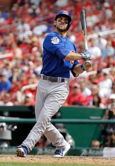 Chicago Cubs' Matt Szczur strikes out swinging during the ninth inning of a baseball game against the St. Louis Cardinals Thursday, May 7, 2015, in St. Louis