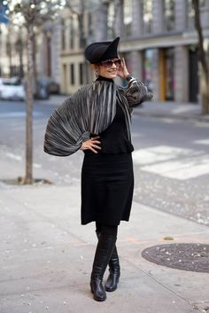 ADVANCED STYLE: Style is Healing:The Style Crone Shares How Dressing Up and Blogging Helped Her Heal After Her Husband's Passing From Cancer