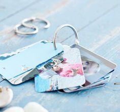 Miniaturalbum für Unterwegs als Geschenk zum Muttertag oder Vatertag