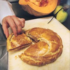 This extraordinary, freshly made treat of pumpkin, apples, brown sugar, and pecans encased in puff pastry comes from Guy Savoy.