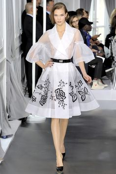 Dior haute couture: How can I not love a garment in which the emphasis is on the construction?