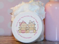 Angels from Above - Twin Girls Whipped Body Butter Shower Favors