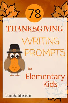 Elementary Writing Thanks Giving Writing Prompts for Students