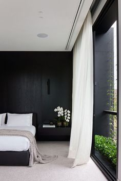 Discover sleek and sexy signature interior styles with the top 50 best black bedroom design ideas. Explore cool dark wall colors and luxury decor accents. Australian Interior Design, Interior Design Awards, Australian Homes, Modern Interior Design, Home Design, Interior Architecture, Design Ideas, Design Room, Brisbane Architecture