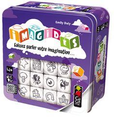 """11 € """"Moi, j'invente que des histoires de princesses !"""" Angely, 9 ans. Imagidés, c'est 12 dés proposant 6 dessins différents chacun => 72 dessins permettant de développer des histoires. Le principe est simplissime : on lance tous les dés. Le 1er joueur choisit..."""