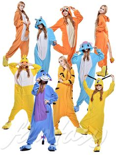 Unisex Adult Pajamas Kigurumi Cosplay Costume Animal Onesie Sleepwear Suit Hot ! #Unbranded #SleepwearCosply