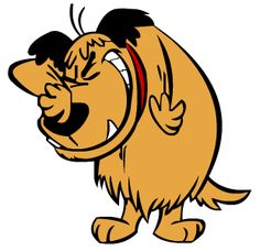 Muttley the dog (known as Kenken in Japanese). Hanna-Barbera cartoon created by Iwao Takamoto and originally voiced by Don Messick.  Side-kick of Dick Dasterdly and appeared in Wacky Races