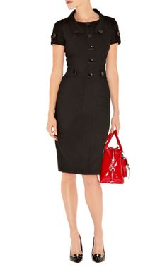 My Capsule Wardrobe ~ Work LBD with Black Shoes and Red Purse