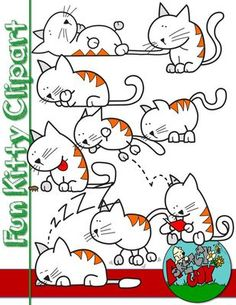 Fun Cat / Kitten Graphic / Clip art Free / Freebie