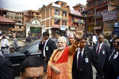 Narendra Modi waves out to the crown in Nepal