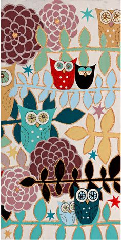 fun owl art, from Rosenberry site they have the best stuff.