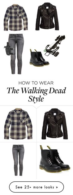 """the walking dead"" by octaviadixon on Polyvore featuring Levi's, Dr. Martens, Burton and Anine Bing"