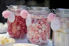 A Sweets and Snacks Table for a Pink Rabbit Birthday Theme
