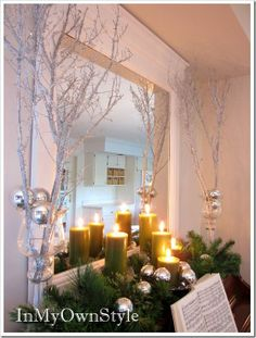 How to make glitter branches