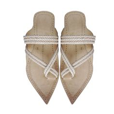 Maharaja Styel braided Kolhapuri Chappal for Men DLC-W-216 by kolhapurichappals on Etsy