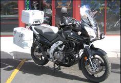 Suzuki Vstrom adventure motorcycle