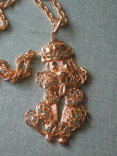 Vintage French Poodle Necklace.