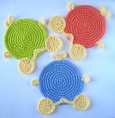 Crochet Cinderella Carriage Coasters